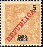 Cape Verde 1911 D. Carlos I Overprinted b