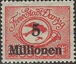 Danzig 1923 Air Post Stamps d