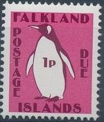 Falkland Islands 1991 Penguins (Postage Due Stamps) a
