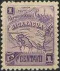 Nicaragua 1896 Map of Nicaragua a