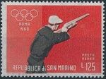 San Marino 1960 17th Olympic Games in Rome (Air Post Stamps) d