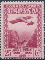 Spain 1931 Plane over Montserrat Pass c