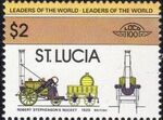 St Lucia 1983 Leaders of the World - LOCO 100 w