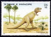 St Thomas and Prince 1982 Dinosaurs d