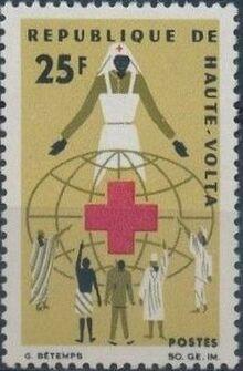 Upper Volta 1966 Red Cross a