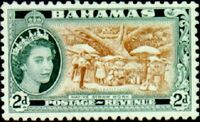 Bahamas 1954 Queen Elisabeth II and Landscapes Issue d