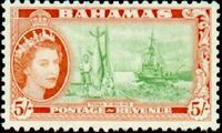 Bahamas 1954 Queen Elisabeth II and Landscapes Issue n