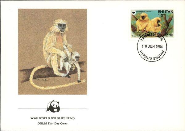 Bhutan 1984 WWF - Golden Langur m