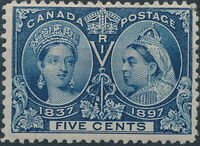 Canada 1897 60th Year of Queen Victoria's Reign e