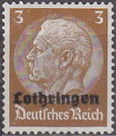 German Occupation-Lothringen 1940 Stamps of Germany (1933-1936) Overprinted in Black a