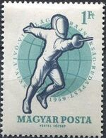 Hungary 1959 24th World Fencing Championships f