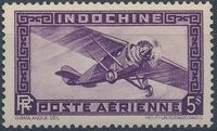 Indo-China 1933 Airmail - With Inscription RF m