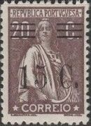 Portugal 1928 Ceres Surcharged h
