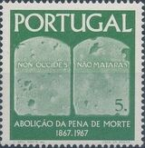 Portugal 1967 1st Centenary of the Abolition of the Death Penalty c