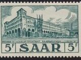 Saar 1954 Definitives - Main Post Office, Saarbrücken