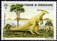 St Thomas and Prince 1982 Dinosaurs a