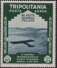 Tripolitania 1934 2nd Colonial Arts Exhibition in Naples-Air Post h