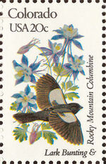 United States of America 1982 State birds and flowers f