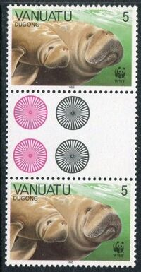 Vanuatu 1988 WWF Dugong e