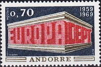 Andorra-French 1969 Europa b