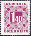 Austria 1951 Postage Due Stamps - Square frame with digit (3rd Group) c.jpg