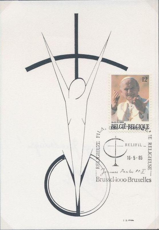Belgium 1985 Visit of Pope John Paul II MCb