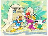 Bhutan 1984 50th Anniversary of Donald Duck