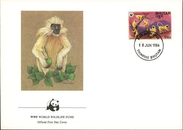 Bhutan 1984 WWF - Golden Langur l