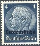 German Occupation-Luxembourg 1940 Stamps of Germany (1933-1936) Overprinted in Black b