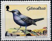 Gibraltar 1988 Birds d