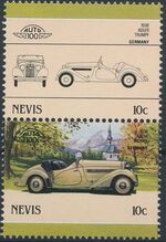 Nevis 1986 Leaders of the World - Auto 100 (5nd Group) a