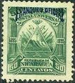 Nicaragua 1895 Official Stamps Overprinted in Blue f.jpg