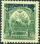 Nicaragua 1895 Official Stamps Overprinted in Blue f