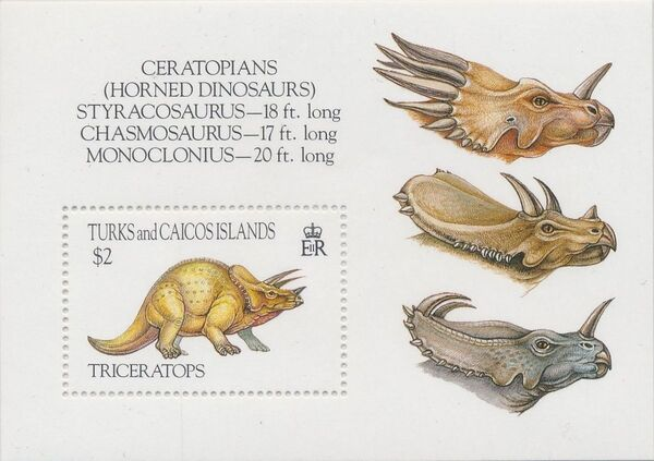 Turks and Caicos Islands 1993 Prehistoric Animals m