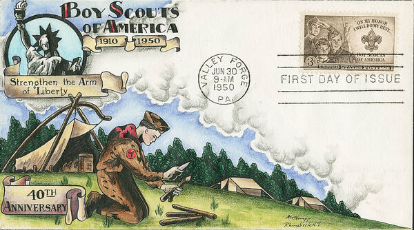 United States of America 1950 Boy Scouts of America FDCa