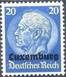 German Occupation-Luxembourg 1940 Stamps of Germany (1933-1936) Overprinted in Black i