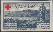Lebanon 1947 Surtax for the Red Cross j