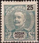 Mozambique 1898 D. Carlos I f