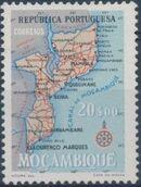 Mozambique 1954 Map of Mozambique h