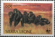 Sierra Leone 1983 WWF - Chimpanzees from Outamba-Kilimi National Park d