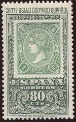 Spain 1965 Centenary of the 1st Spanish Perforated Postage Stamps a