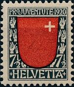 Switzerland 1920 PRO JUVENTUTE - Coat of Arms a