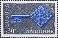 Andorra-French 1968 Europa a