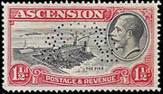 Ascension 1934 George V and Sights of Ascension m