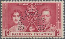 Falkland Islands 1937 George VI Coronation SPb