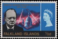 Falkland Islands 1966 Churchill Memorial a