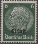 German Occupation-Alsace 1940 Stamps of Germany (1933-1936) Overprinted in Black d