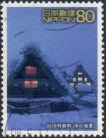 Japan 2002 World Heritage (2nd Series) - 9 Villages of Shirakawa-go & Gokayam e