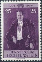 Liechtenstein 1956 50th Birthday of Prince Franz Joseph II c
