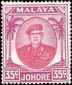 Malaya-Johore 1952 Definitives - Sultan Ibrahim (New values) e